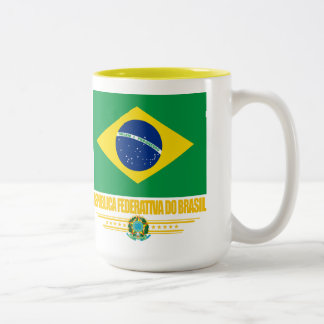 Brazilian Pride Two-Tone Coffee Mug
