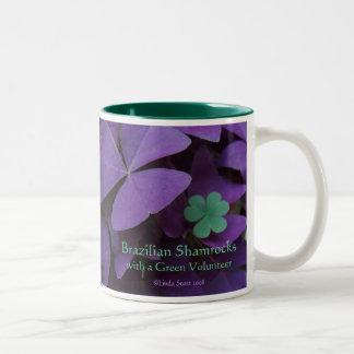 Brazilian Shamrocks with a Green Volunteer Two-Tone Coffee Mug