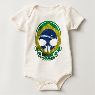 Brazilian Skull Baby Bodysuit