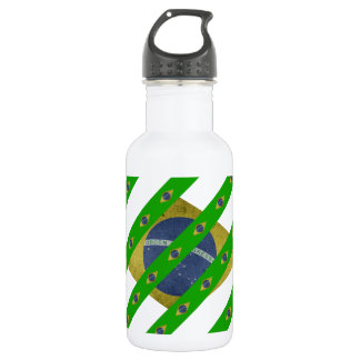 Brazilian stripes flag 532 ml water bottle