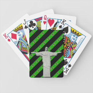 Brazilian stripes flag bicycle playing cards