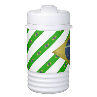 Brazilian stripes flag drinks cooler