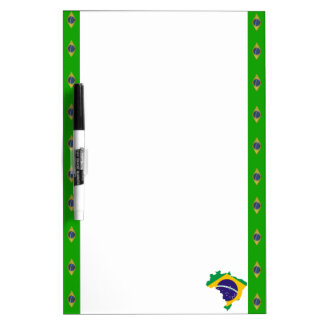 Brazilian stripes flag dry erase board