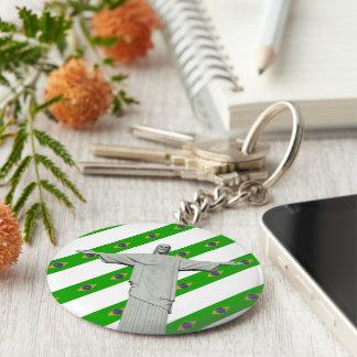 Brazilian stripes flag keychain