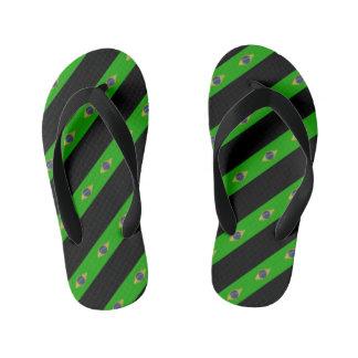 Brazilian stripes flag kid's flip flops