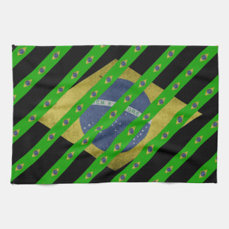 Brazilian stripes flag kitchen towel