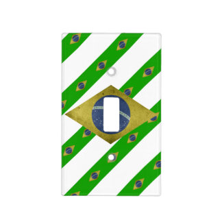 Brazilian stripes flag light switch cover