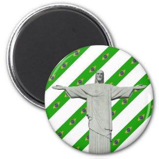 Brazilian stripes flag magnet
