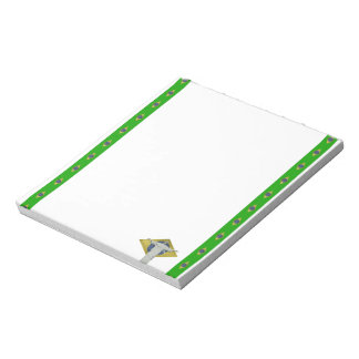 Brazilian stripes flag notepad