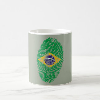 Brazilian touch fingerprint flag coffee mug