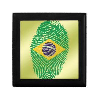 Brazilian touch fingerprint flag jewelry boxes