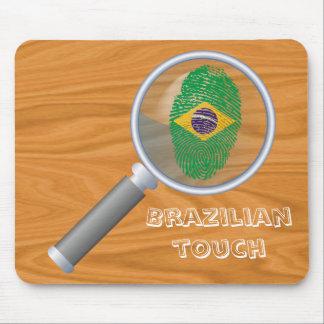 Brazilian touch fingerprint flag mouse pad