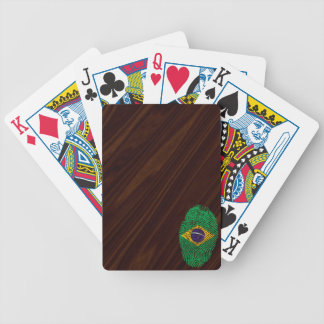 Brazilian touch fingerprint flag poker deck