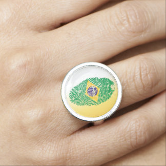 Brazilian touch fingerprint flag ring