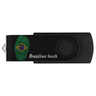 Brazilian touch fingerprint flag swivel USB 3.0 flash drive