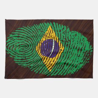 Brazilian touch fingerprint flag towel