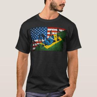 "Brazilian/ US Flags - ""MMA Tagged"" -shirt T-Shirt"