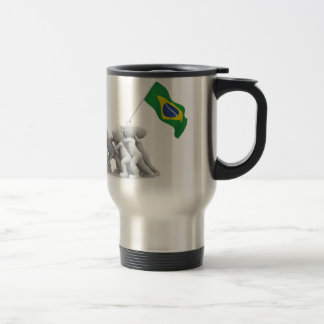 brazils flag travel mug