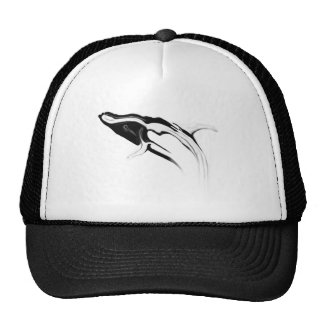 Breaching Humpback Whale Drawing Trucker Hat