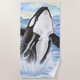 Breaching Orca Beach Towel