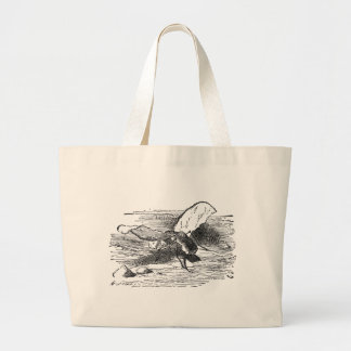 Bread and Butter Fly Large Tote Bag