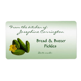 Bread and Butter Pickles Canning Labels