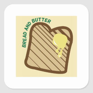 Bread And Butter Square Sticker
