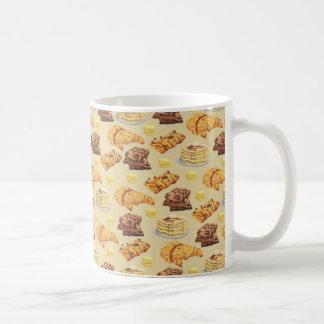 Bread and Pancakes Pattern Coffee Mug