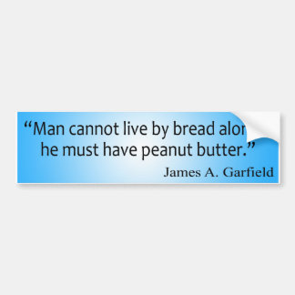 Bread and Peanut Butter Bumper Sticker