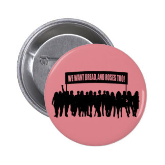 """Bread and Roses"" button"