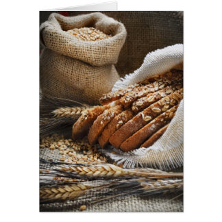 Bread And Wheat Ears Greeting Card
