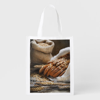 Bread And Wheat Ears Market Totes