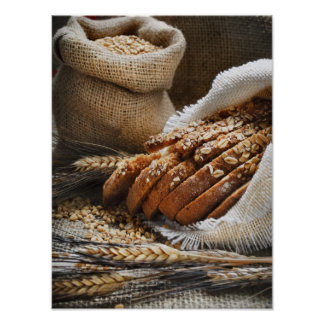 Bread And Wheat Ears Poster
