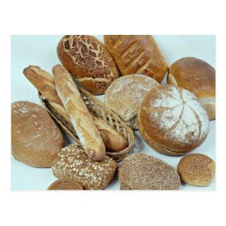 Bread assortment postcard