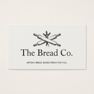 Bread Baker Bakery Chef Rolling Pins Business Card