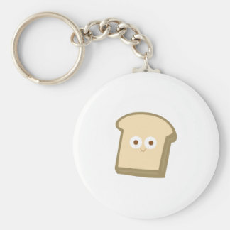 bread base basic round button keychain