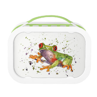 Bread box with handpainted frog