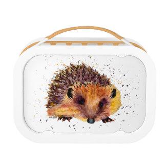 Bread box with handpainted hedgehog