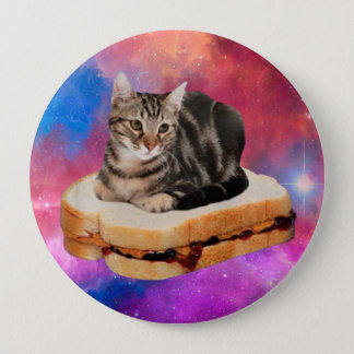 bread cat  - space cat - cats in space 4 inch round button
