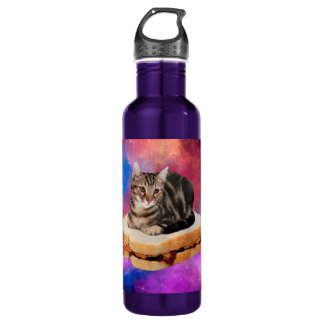 bread cat  - space cat - cats in space 710 ml water bottle
