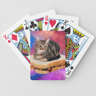 bread cat  - space cat - cats in space bicycle playing cards