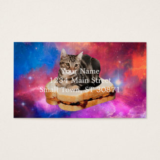 bread cat  - space cat - cats in space business card