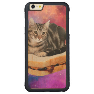bread cat  - space cat - cats in space carved maple iPhone 6 plus bumper case