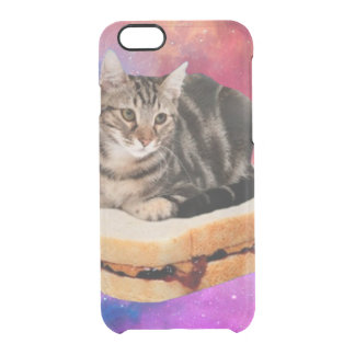 bread cat  - space cat - cats in space clear iPhone 6/6S case