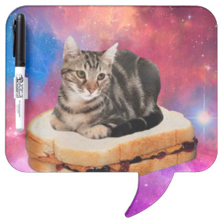 bread cat  - space cat - cats in space dry erase board