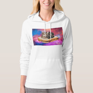 bread cat  - space cat - cats in space hoodie