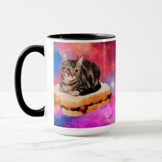 bread cat  - space cat - cats in space mug