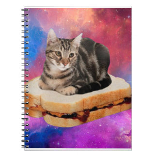 bread cat  - space cat - cats in space notebooks