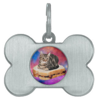 bread cat  - space cat - cats in space pet tag