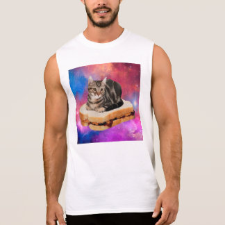 bread cat  - space cat - cats in space sleeveless shirt